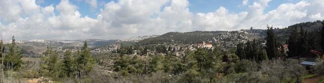 Панорама на селение Эйн-Карем в Иерусалиме. Фотоархив Иерусалимского отделения ИППО