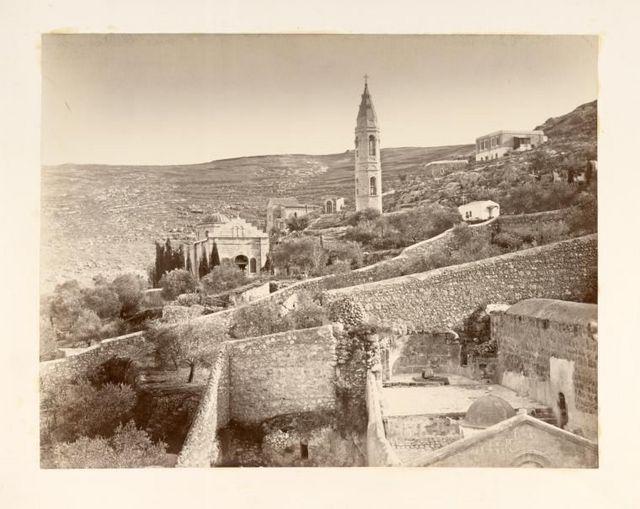 Вид на Горненский женский монастырь в пригороде Иерусалима Эйн-Карем