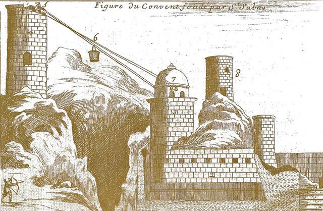 Евгений Роджер, Святая Земля. Лавра св. Саввы. Париж 1664 г. © Фотоархив Иерусалимского отделение ИППО