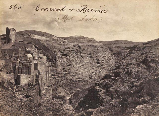 Монастырь св. Саввы. Фото Френсиса Фрита. 1859 г.