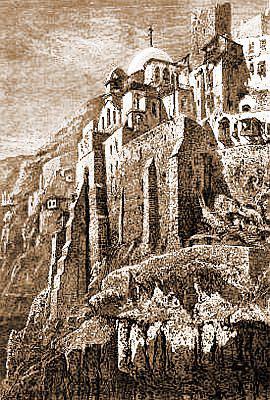 Лавра преп. Саввы. Из альбома «Зарисовки Палестины», изд. Ч. Уилсона, т. 1, 1881