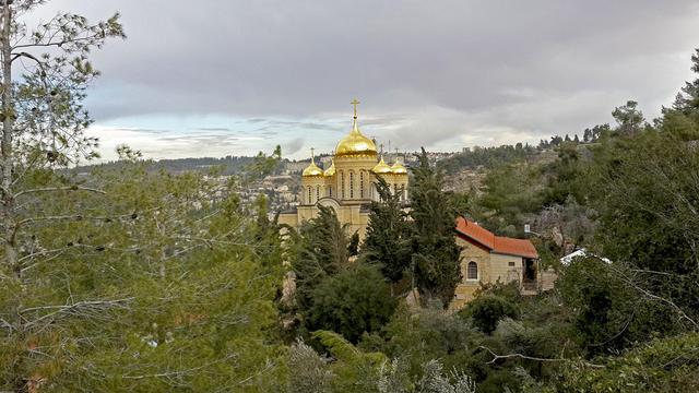 Храм всех русских святых в Горненском монастыре в Иерусалиме