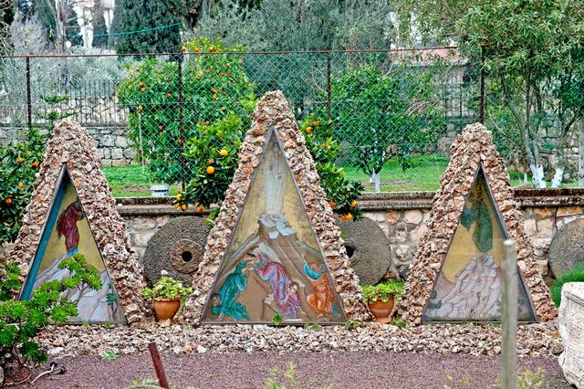 "Symbolic three tabernacles in a Greek Orthodox monastery on the top of Mount Tabor Photos January 26, 2014 © Photo of the orthodox pilgrim center ""Russia in colors"" in Jerusalem"
