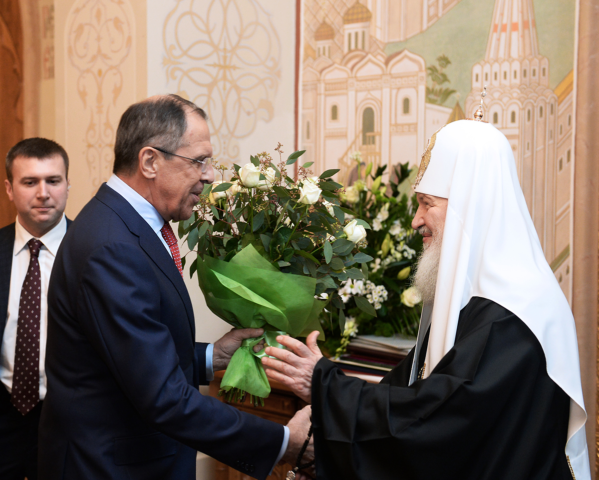 Святейший Патриарх Кирилл и С.В. Лавров